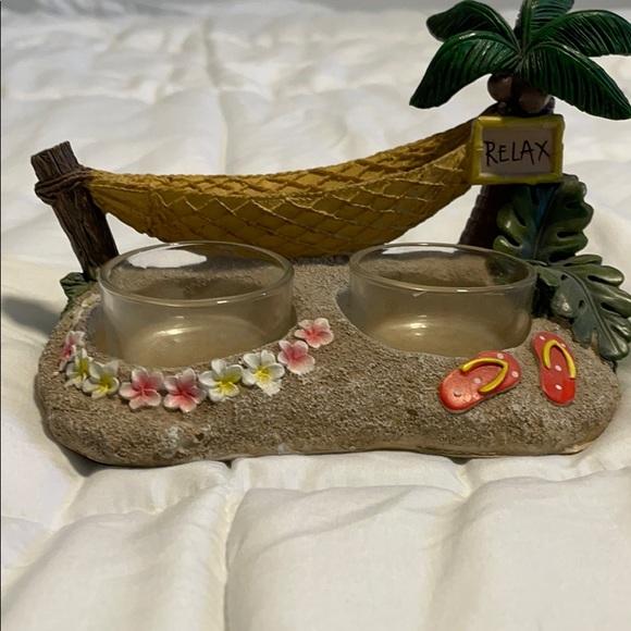Candle votive holder-beach theme
